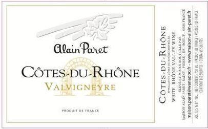 Alain Paret Cotes-du-Rhone Viognier -$16, asian pear, almonds, citrus, white peach and wild flowers, mineral