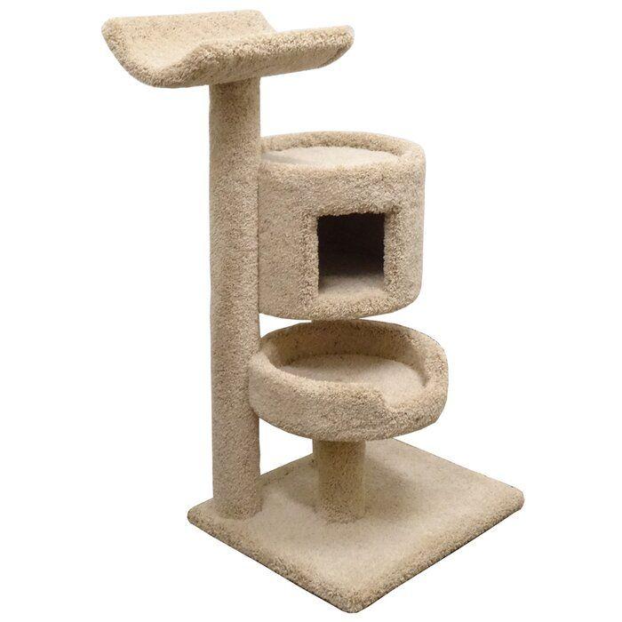 New Cat Condos 45 Premier Bungalow Cat Tree Reviews Wayfair Cat Condo Cat Bed Furniture Cat Perch