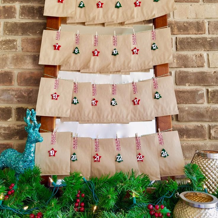 Everything you need to create your own festive Christmas countdown advent calendar!