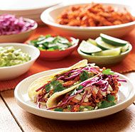 These tacos are the perfect destination for leftover chicken. Set up a taco bar and let your family assemble their own tacos with their favorite fillings and toppings. You can find chipotles en adobo in the Mexican food section of the grocery store.