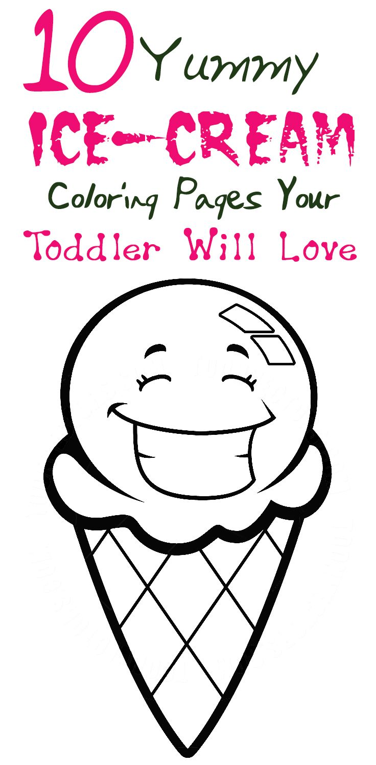 10 Yummy Ice-Cream Coloring Pages Your Toddler Will Love