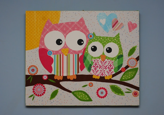 This looks super easy and fun to make!: Ideas, Modg Podge, Crafty, Owl Canvas, Owli Pictures, Paper Owl, Scrapbook Paper, Owl Pictures, Crafts