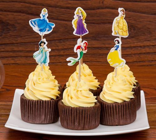 1-5-10-15-20-Disney-Princess-Cup-Cake-Topper-Sticks-Flags-Snow-White-Cinderella