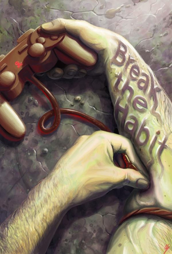 Break The Habit (Social Issue Poster) by Charlie Swerdlow, via Behance