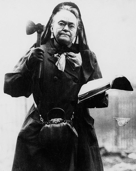 Carrie Nation, 1910.