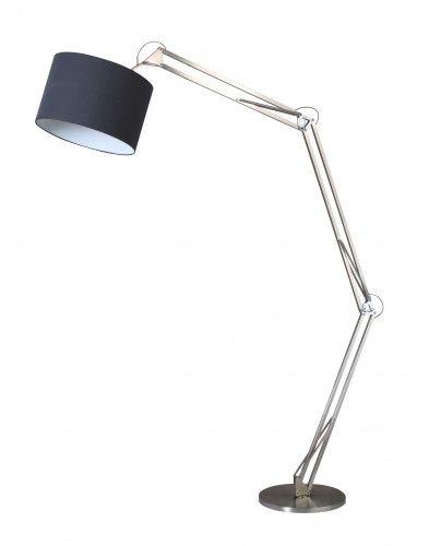 Lampa podłogowa Mirani chrom/ czarny E27 60W
