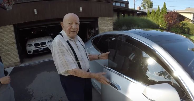 A Tesla owner shows his 97-year-old Grandpa a car from the future  |  TechCrunch