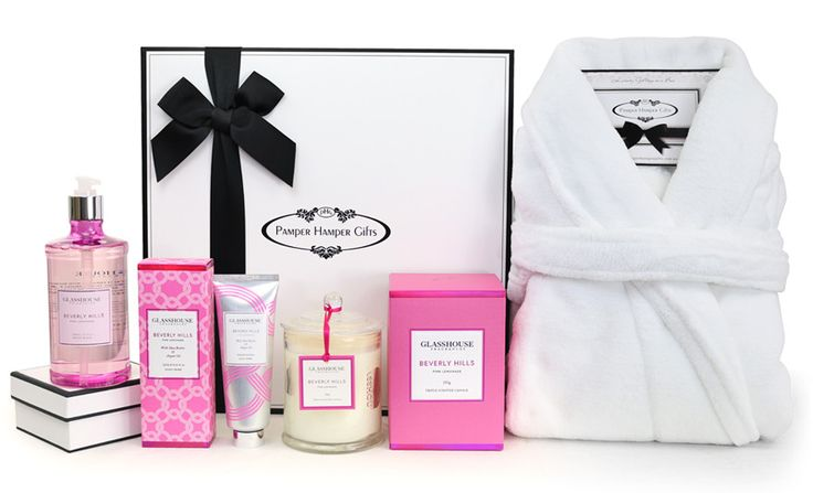 Our HOT new Beverly Hills Hamper can be found @ http://www.pamperhampergifts.com.au/pamper-hamper-gifts/the-glasshouse-beverly-hills-spa-pamper-hamper.html  #gift #gifts #gifting #beverlyhills #pink #hotpink #women #candle #candles #perfume #present #robe #bathrobe #pamper #hamper #australia #glasshouse