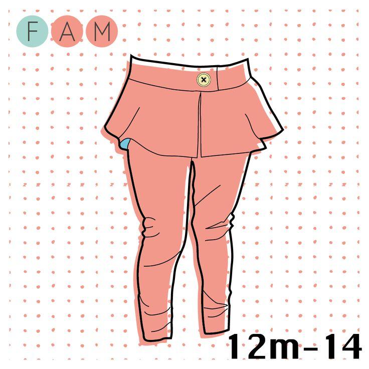 Poppy's favorite Peplum Pants for 12m to 14.