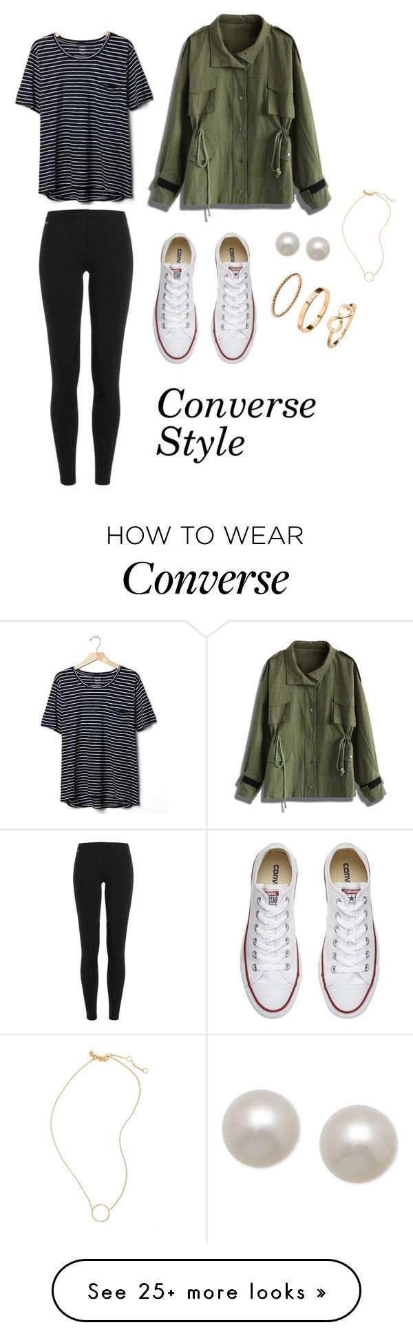 """Converse Style"" by fromraintoshine on Polyvore featuring Chicwish, Converse, Polo Ralph Lauren, Gap, Honora, H&M and Madewell"