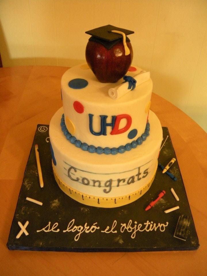 education cake | UHD Graduation Cake for a Teacher « Main Made Custom Cakes
