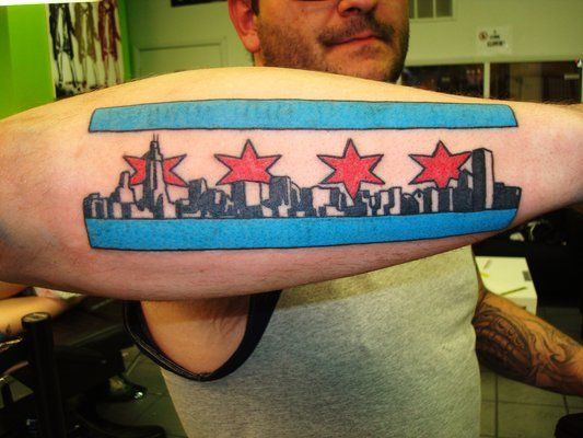 chicago flag tattoos