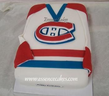 Montreal Canadiens Hockey Jersey Cake