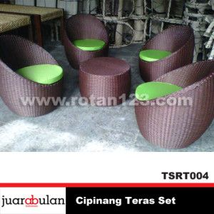 Cipinang Teras Set Kursi Rotan Sintetis TSRT004