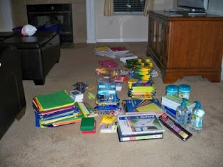 Make a teacher supply box for a new teacher in a low-income school with your children as a way to teach your children about the needs of others.