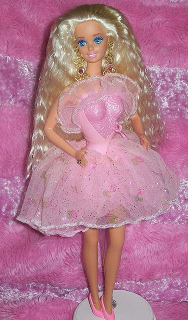 1993 Locket Surprise Barbie by StanleytheBarbieman, via Flickr
