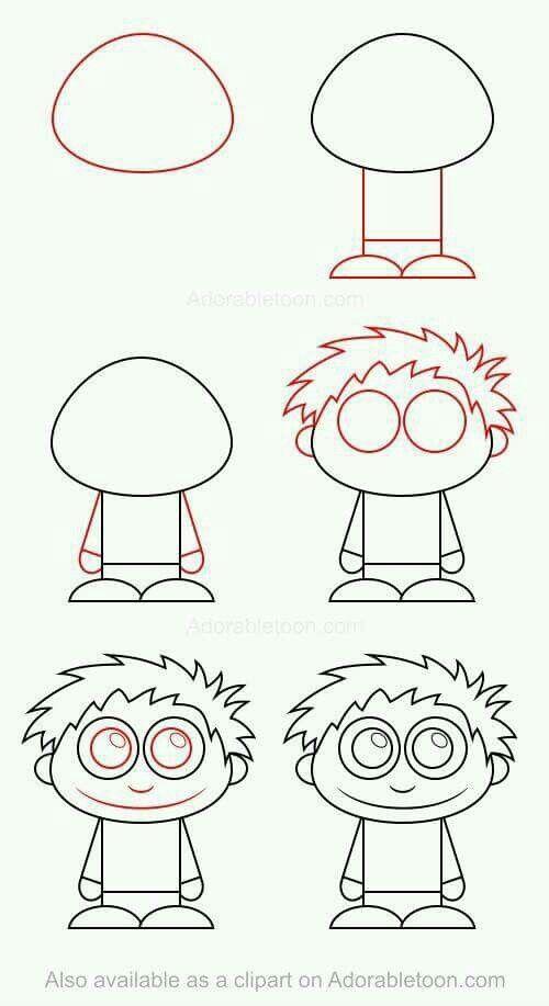 How to draw boy
