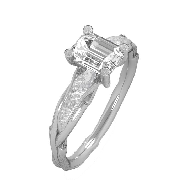 She is your forever and she will forever adore this timeless meteorite engagement ring. This Forever One Moissanite engagement ring is handcrafted...
