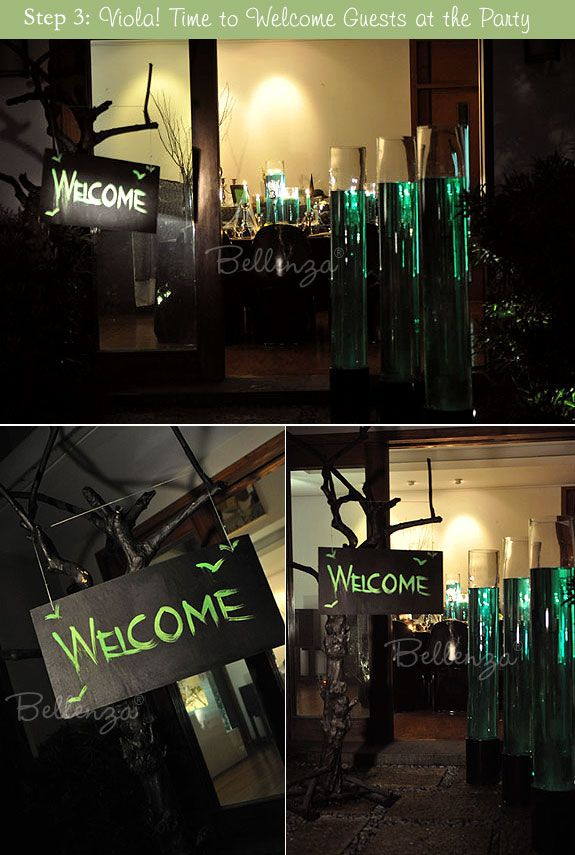 diy a halloween wedding welcome sign - Halloween Themed Wedding Reception