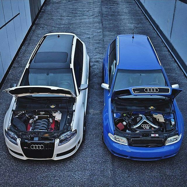 LEFT or RIGHT ? #Audi #RS4 #Avant #B7 & #B5 - - - - - - Picture by @auditography - - - - - -