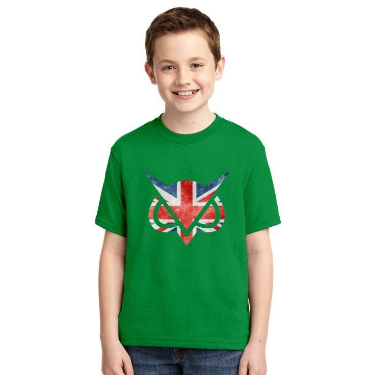 Vanoss Great Britain Flag Youth T-shirt