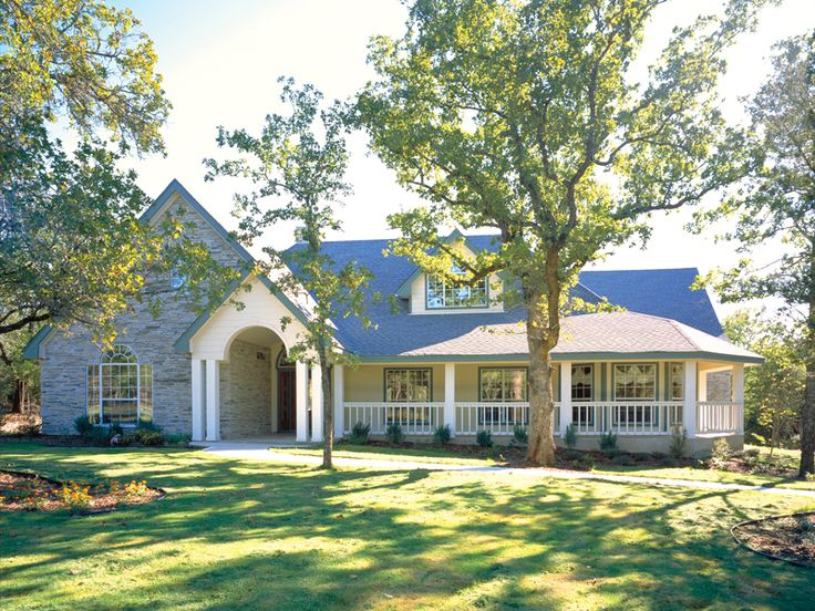 Ranch House Plan Front Of Home 111D 0009   I Like The Curb Appeal And Easy  Living Floor Plan | Floor Plans | Pinterest | Front Porches, Porch And Ranch