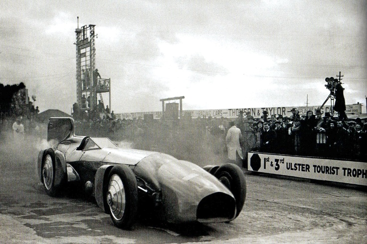 Sir Malcolm Campbells's Bluebird car, holder of the World Land Speed Record, at Brooklands - UK - 20 April 1932
