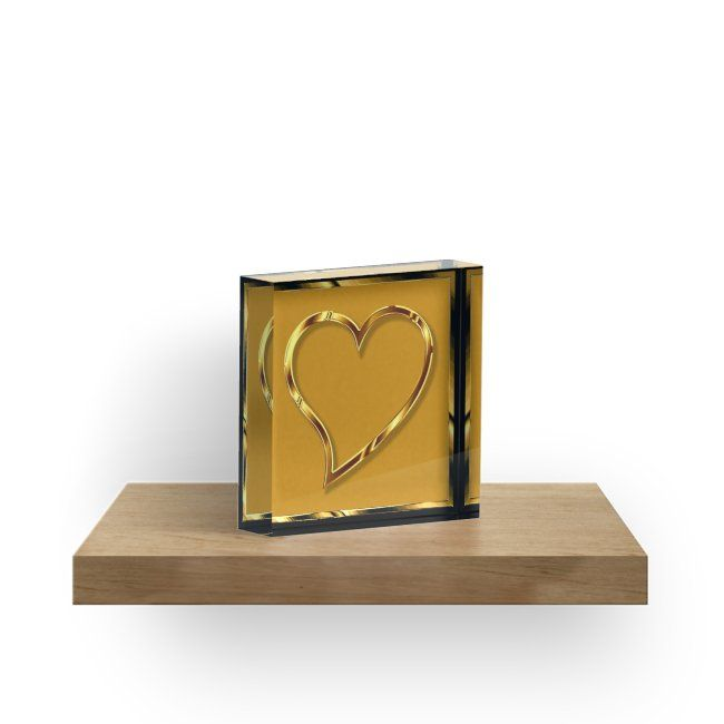 Valentine heart in gold look • Also buy this artwork on home decor, apparel, stickers, and more.