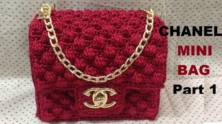 How to crochet CHANEL Mini Bag Part 1 - Hướng dẫn móc túi Chanel mini P1