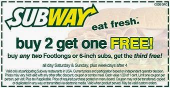 OHIO subway coupons may 2015 printable | Subway Printable Coupons May 2015