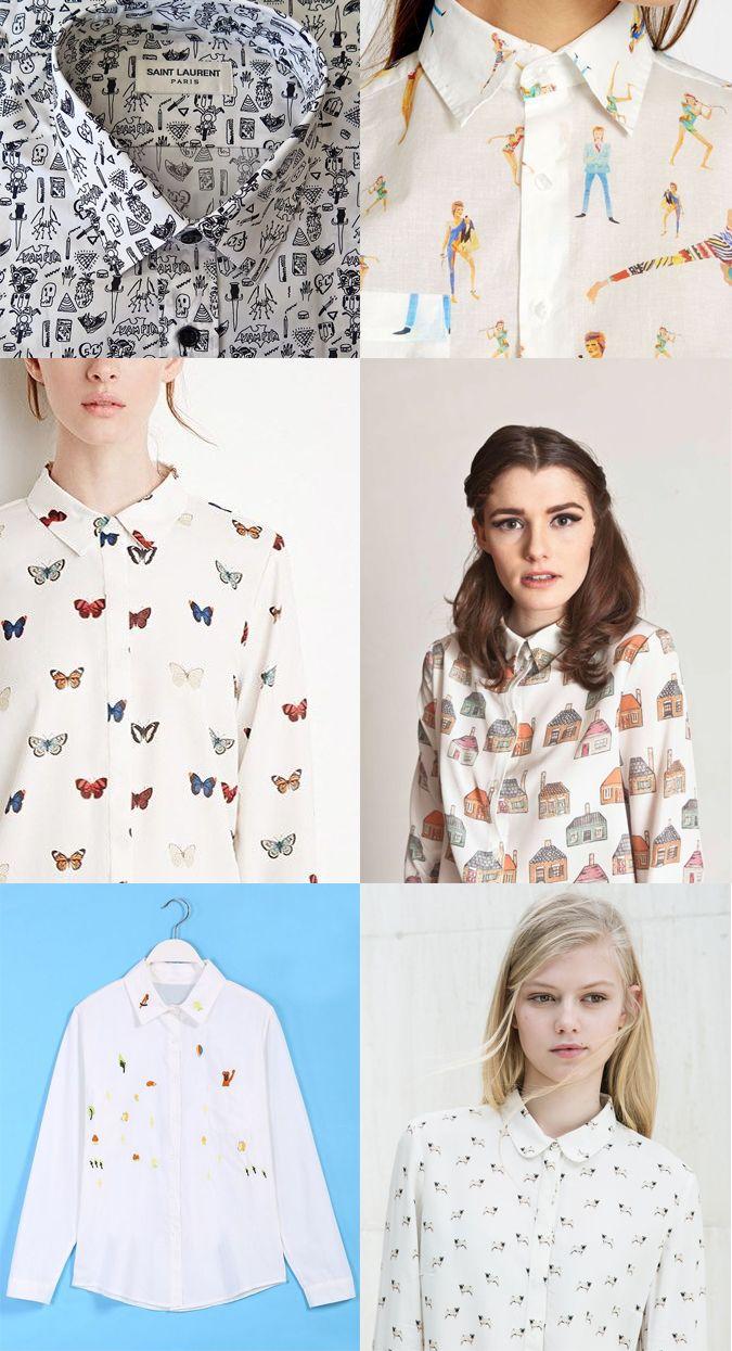 Adoro las camisas estampadas . No siempre me resulta fácil dar con diseños originales y diferentes (ya estoy un poco aburrida de cuadros...