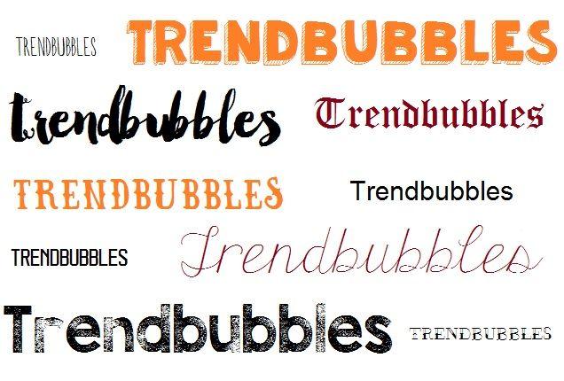 Ontdek welke trends in lettertypes of fonts er nu zijn voor jouw logo, website. De mooiste op een rij. Ook handgeschreven fonts.