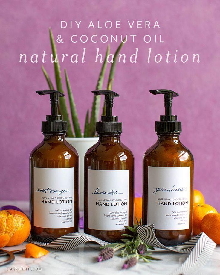 Natürliche Hautpflege-Rezepte: Aloe Vera und Kokosnussöl-Lotion  #Aloe #Hautp …