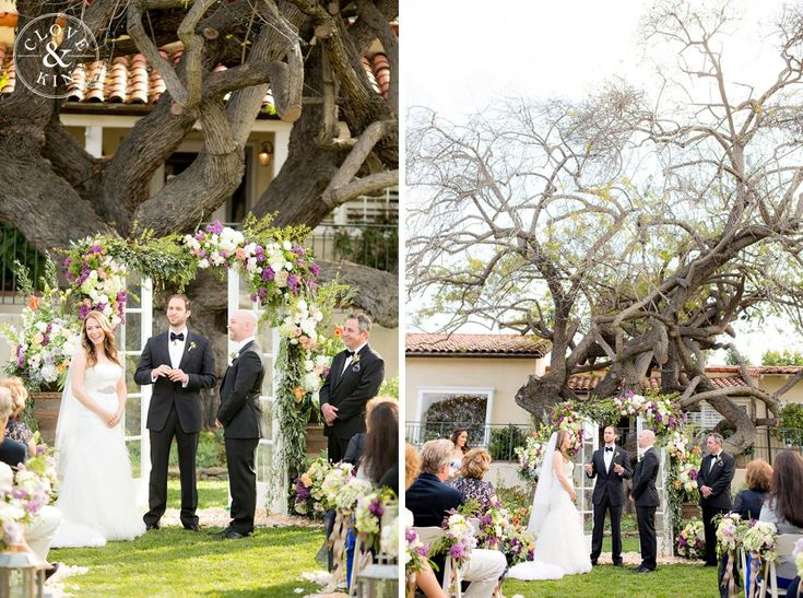 Gorgeous altar with a huge awesome tree!   The Inn at Rancho Santa Fe Wedding | Marina and Safy  Photography by Clove & Kin. View More:  http://cloveandkin.com/blog/the-inn-at-rancho-santa-fe-wedding-marina-safy/