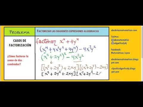 Factorar suma de cuadrados