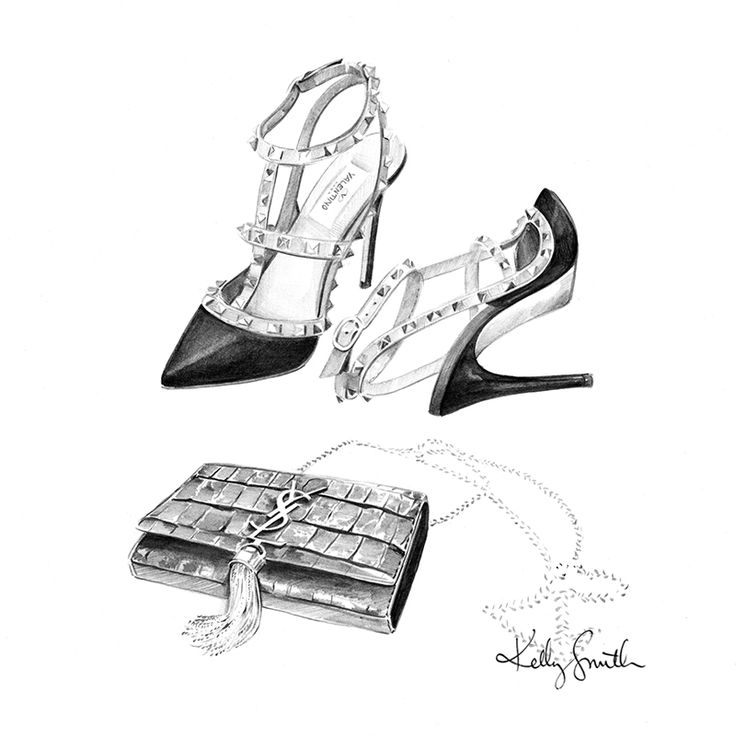 Image of Valentino + YSL - ORIGINAL SKETCH