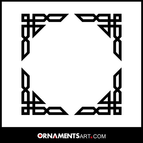 Vector Islamic Art 02 Islamic frame border © You can use or edit this art work as you like for personal or commercial use * Download the orginal file and more free vector ornaments www.ornamentsart.com