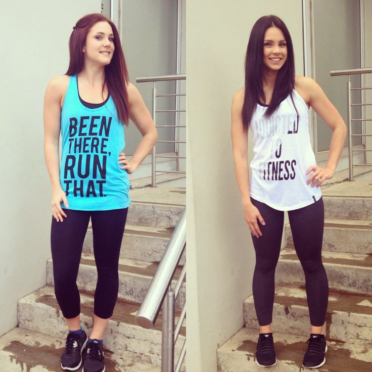 Fitness fashion. Graphic gym tee.