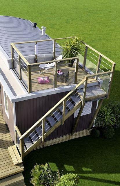 die besten 25 moderne mobilheime ideen auf pinterest. Black Bedroom Furniture Sets. Home Design Ideas