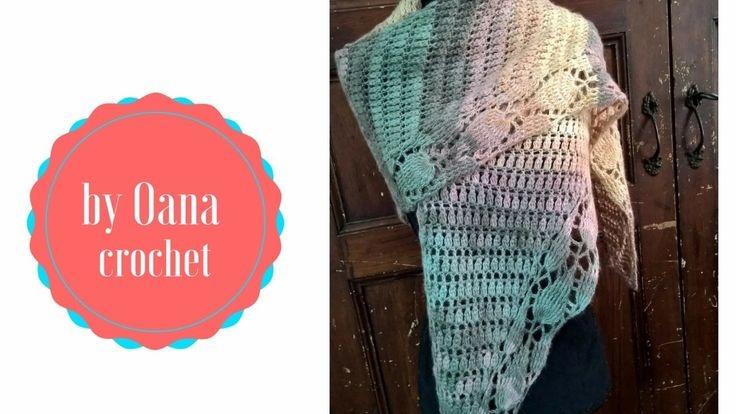 Crochet leaf shawl- by Oana - YouTube