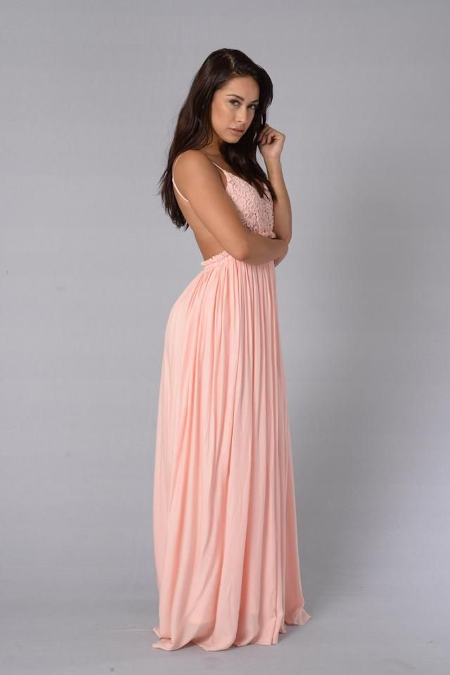 - Maxi Length - Crochet Top - Open Back - Frayed Hem - Lined - Self: 100% Rayon - Lining: 100% Polyester - Contrast: 100% Cotton