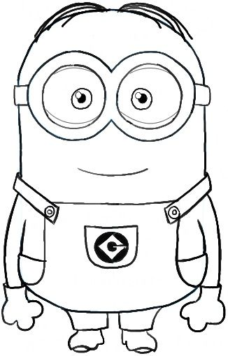 Minion Coloring Pages Birthday Parties Minion Drawing