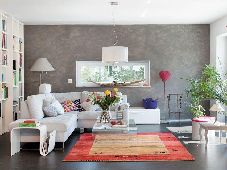 Hier Wirkt Das Fenster Harmonisch Mit Der Wohnzimmergestaltung Wie Ein Bild