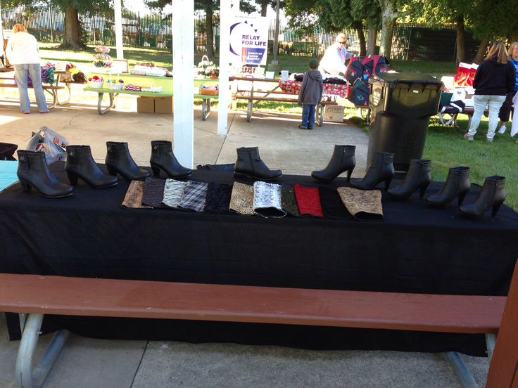 Our booth in Kent City. For pricing or to order, check out our website at www.kimlisawotring.llyndamoreboots.com