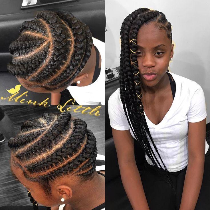 143 Best Feed In Braids Images On Pinterest Black Girls