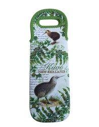 Retro NZ Kiwi Bird Wine Bag - retro, kiwi, wine, bag, gift, nz, bird, lovely, ... - Shopenzed.com
