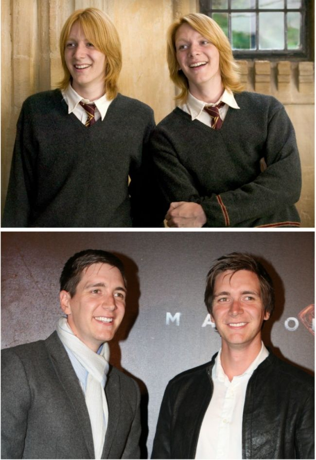 The story of our childhood, in pictures! Harry Potter characters then and now.