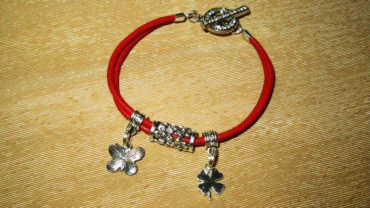 Spring red bracelet - my work.