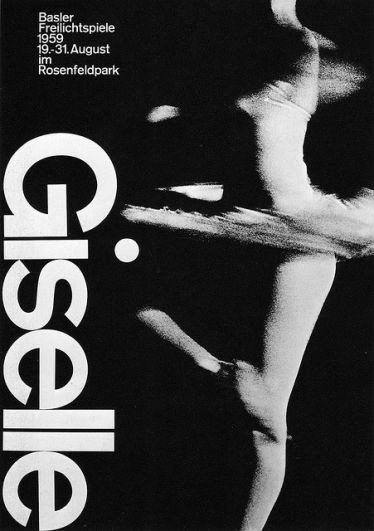 Designer: Armin Hofmann. follows the international poster style (international typographic style)