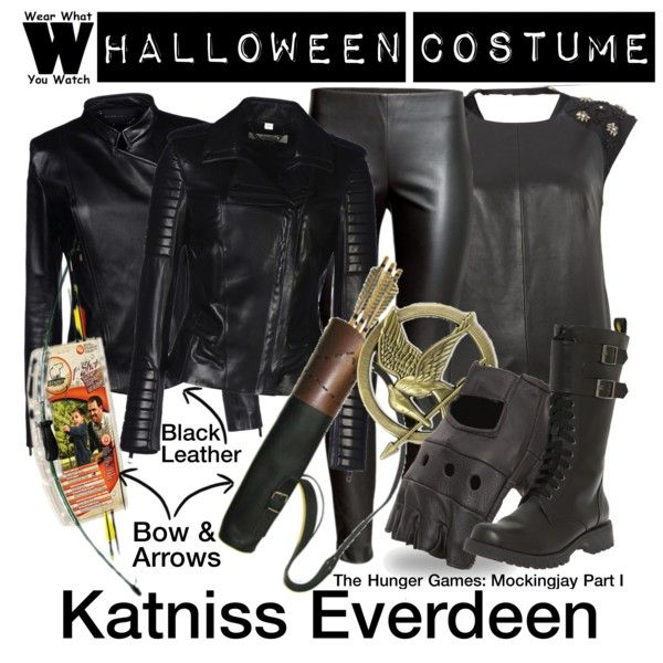 A Halloween Costume how-to inspired by Jennifer Lawrence as Katniss Everdeen in 2014's The Hunger Games: Mockingjay Part I.